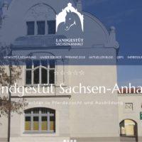 Neue Internetseiten Landgestüt Sachsen-Anhalt